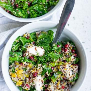 Roasted Pumpkin Kale Quinoa Salad