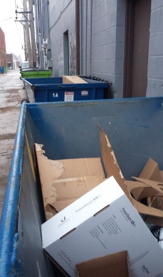Do you see potential for these boxes outside the landfill, never to be used again? Click for inspiration.