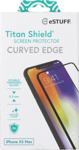 eSTUFF Apple iPhone Xs Max Curved Bla ES501246