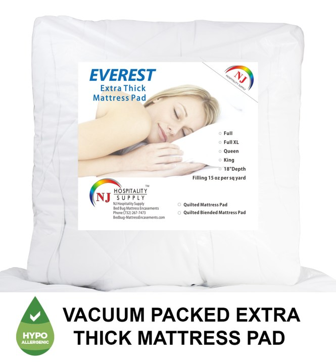 Extra Thick Mattress Pads Queen Size 60 X80 18 Depth 15 Oz Filling