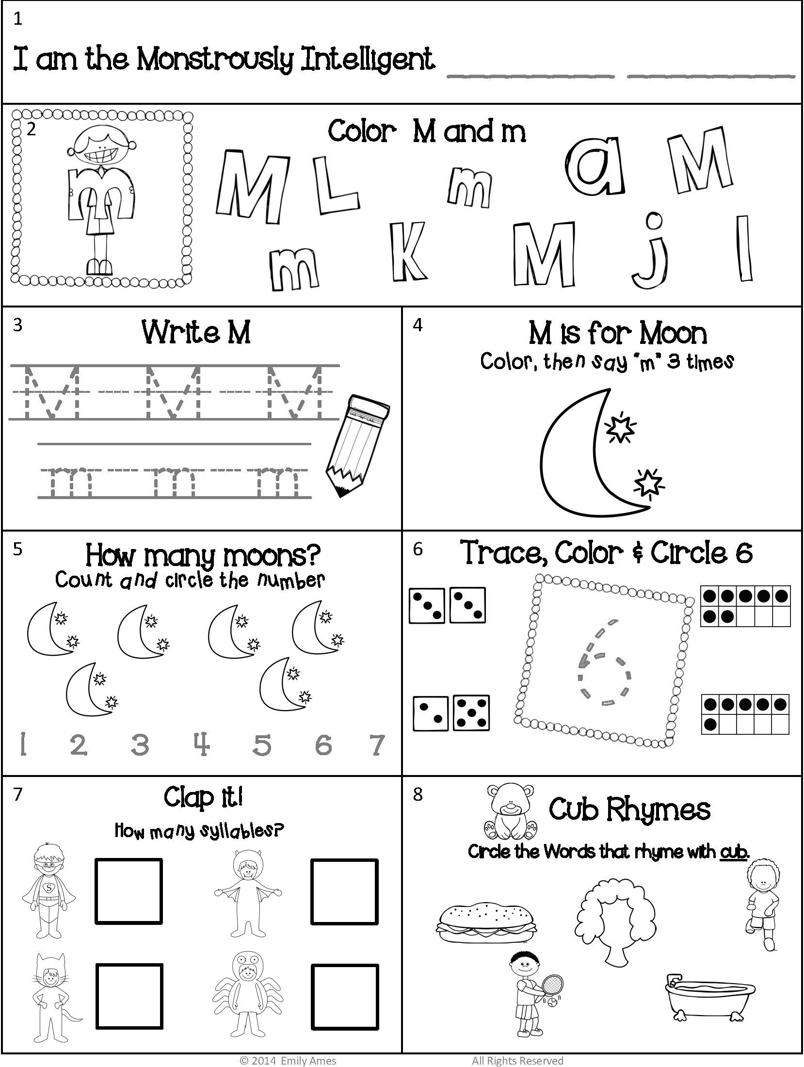 Free Spanish Worksheets For Kindergarten Worksheet For