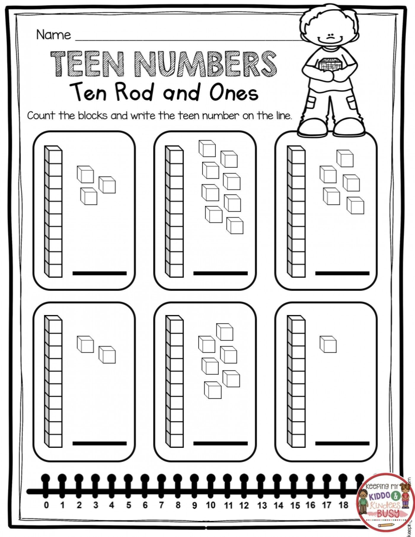 Kindergarten Math Common Core Worksheets