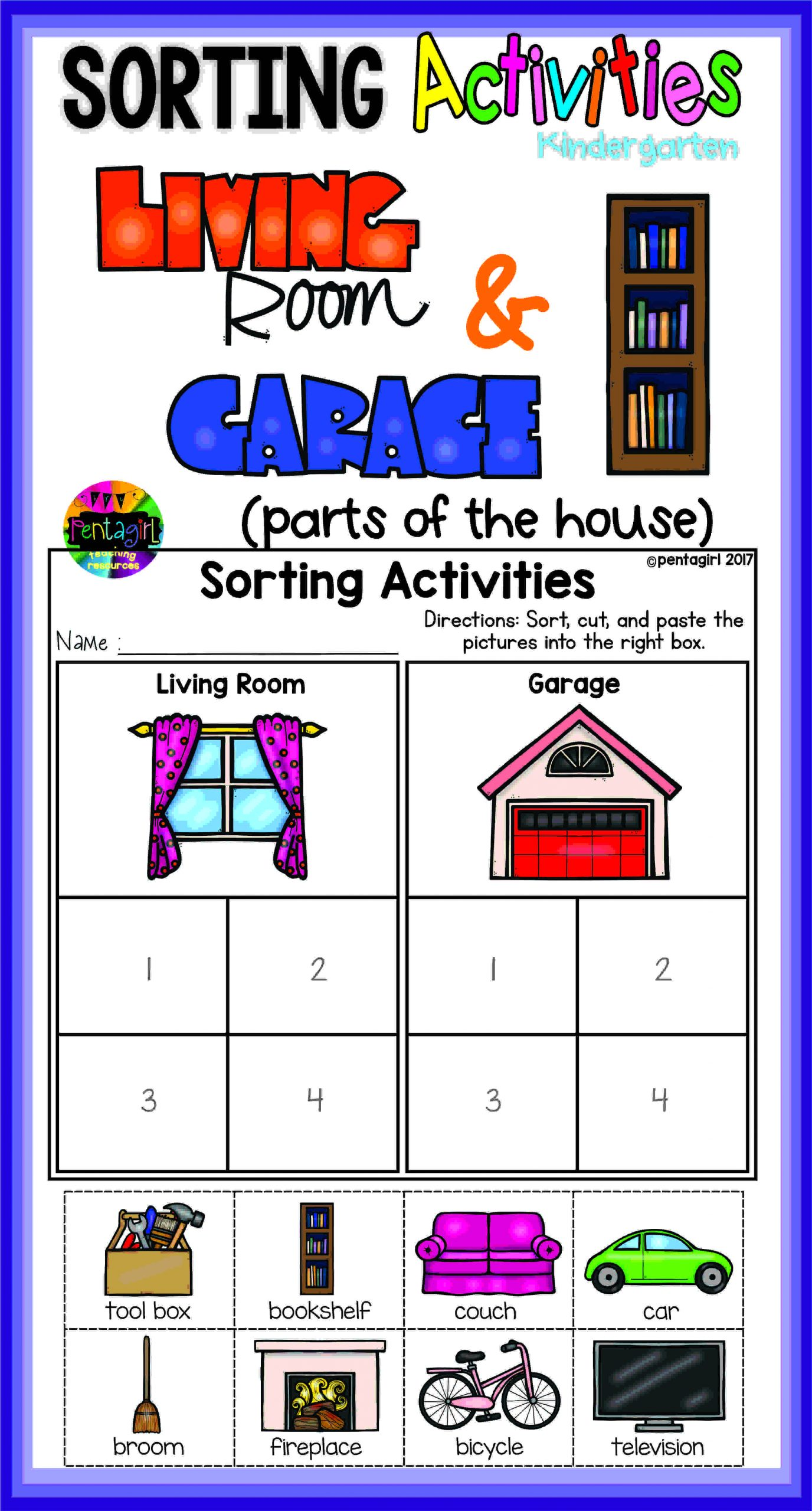 Kindergarten Math Sorting Worksheets Worksheet For