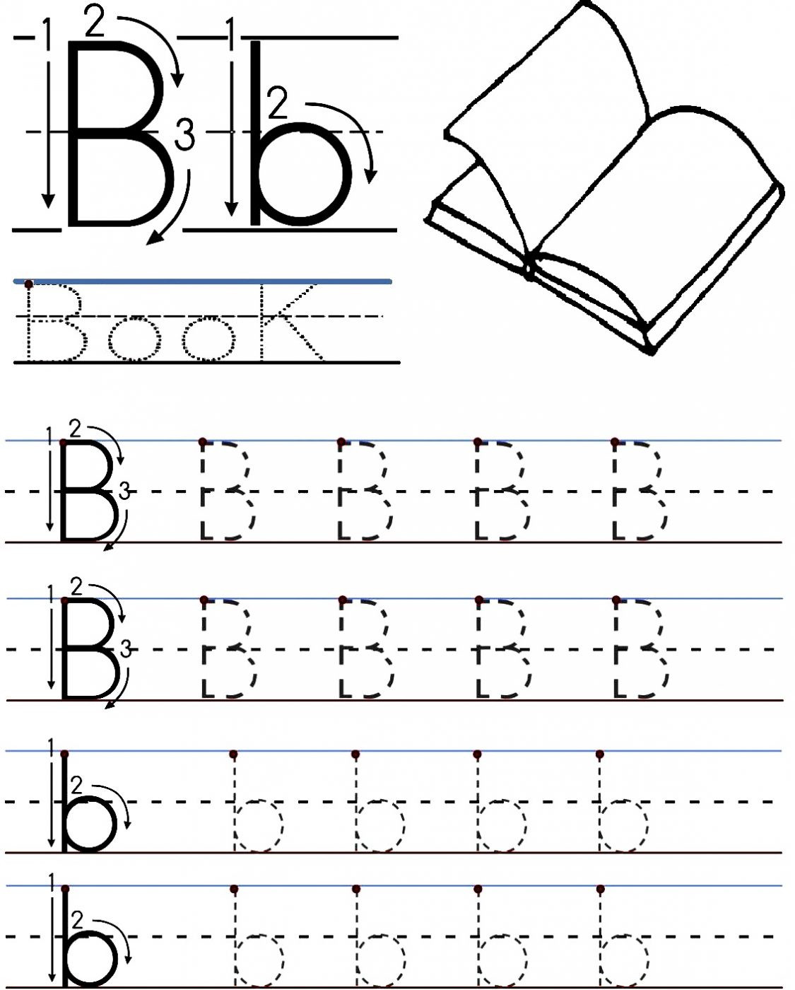Letter B Worksheets Kindergarten