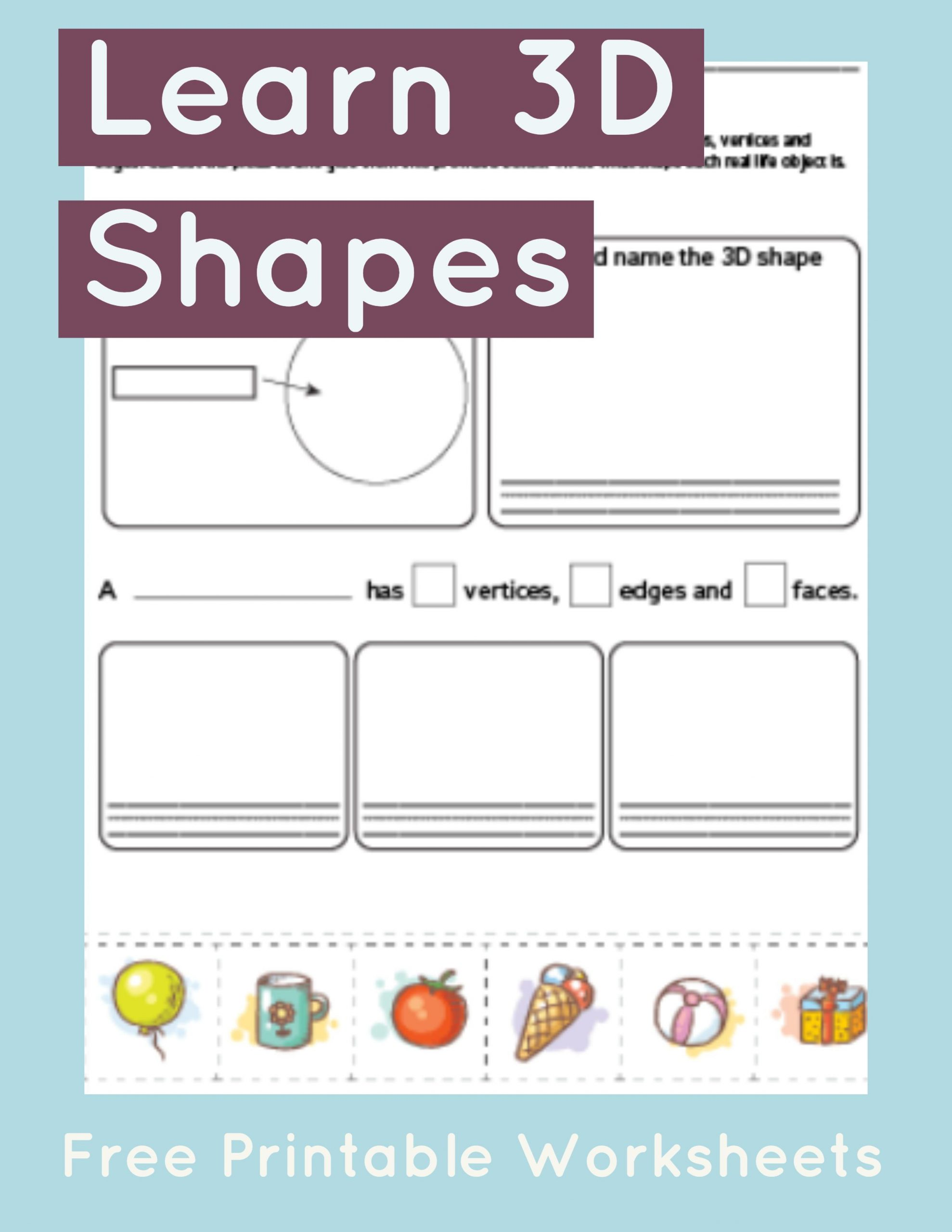 Sphere Worksheet For Kindergarten