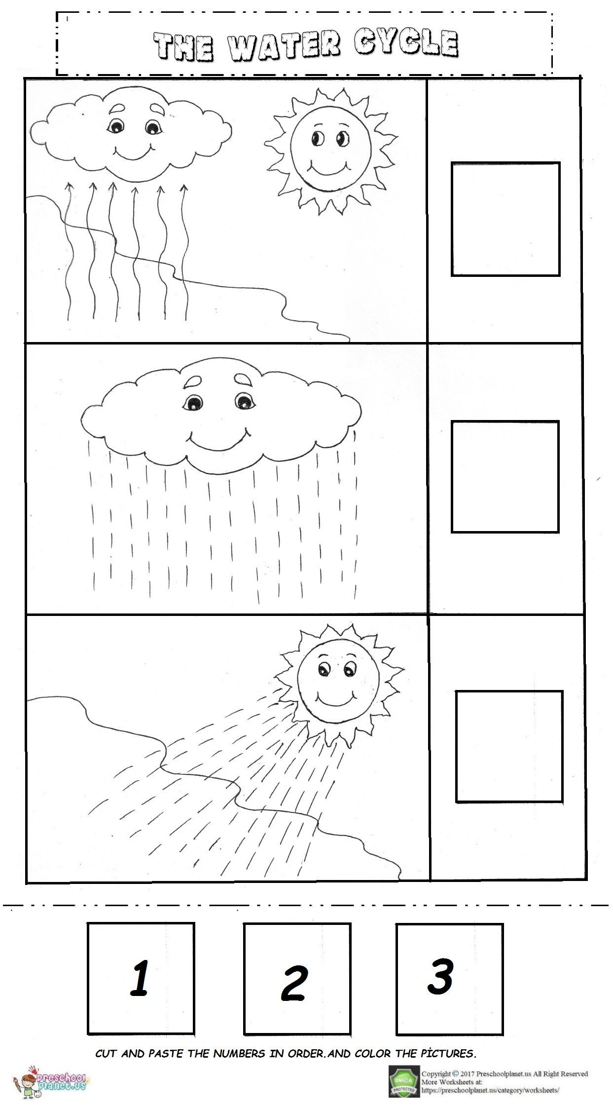 Water Cycle For Kindergarten Worksheets