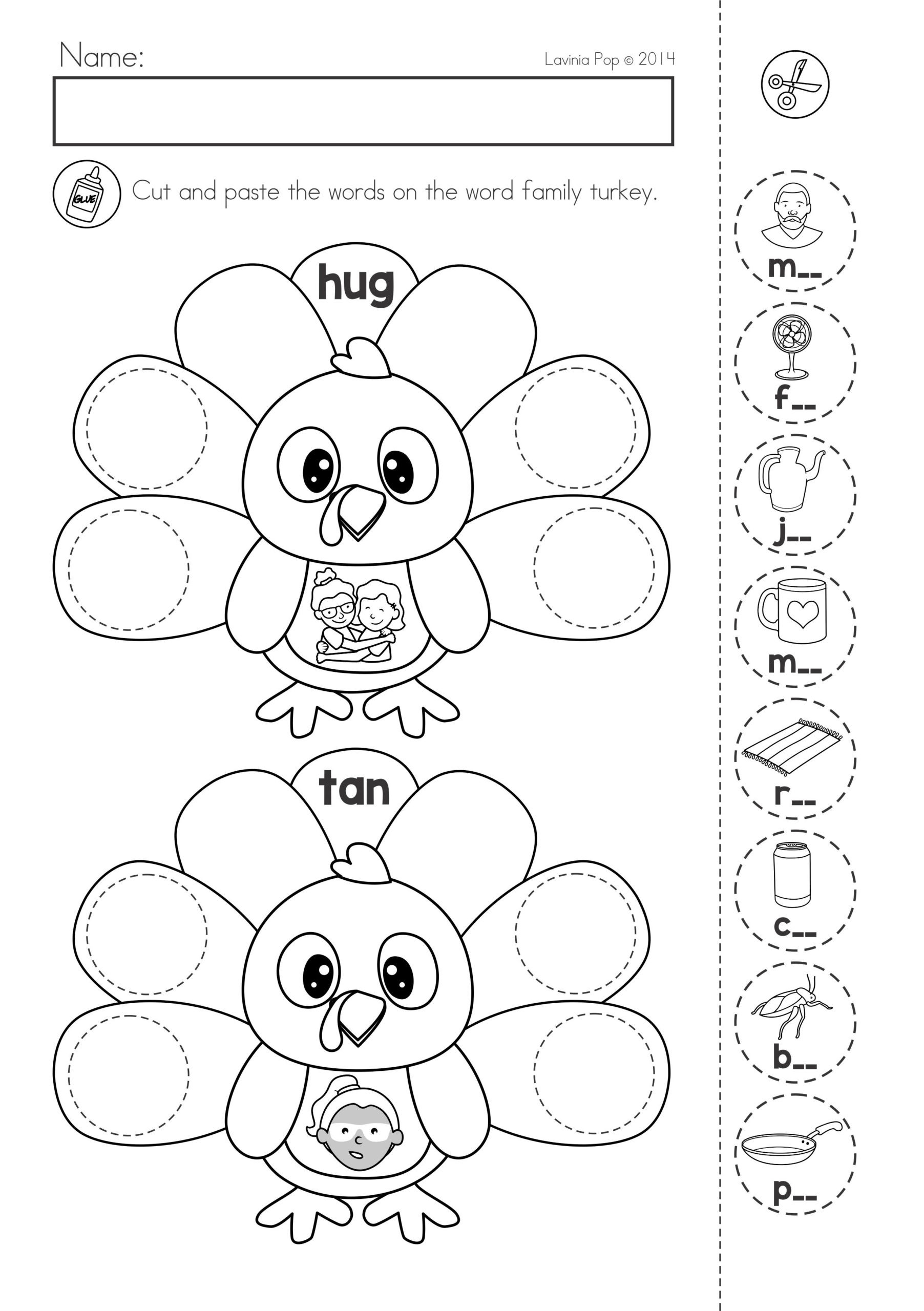 Printable Cut And Paste Worksheets