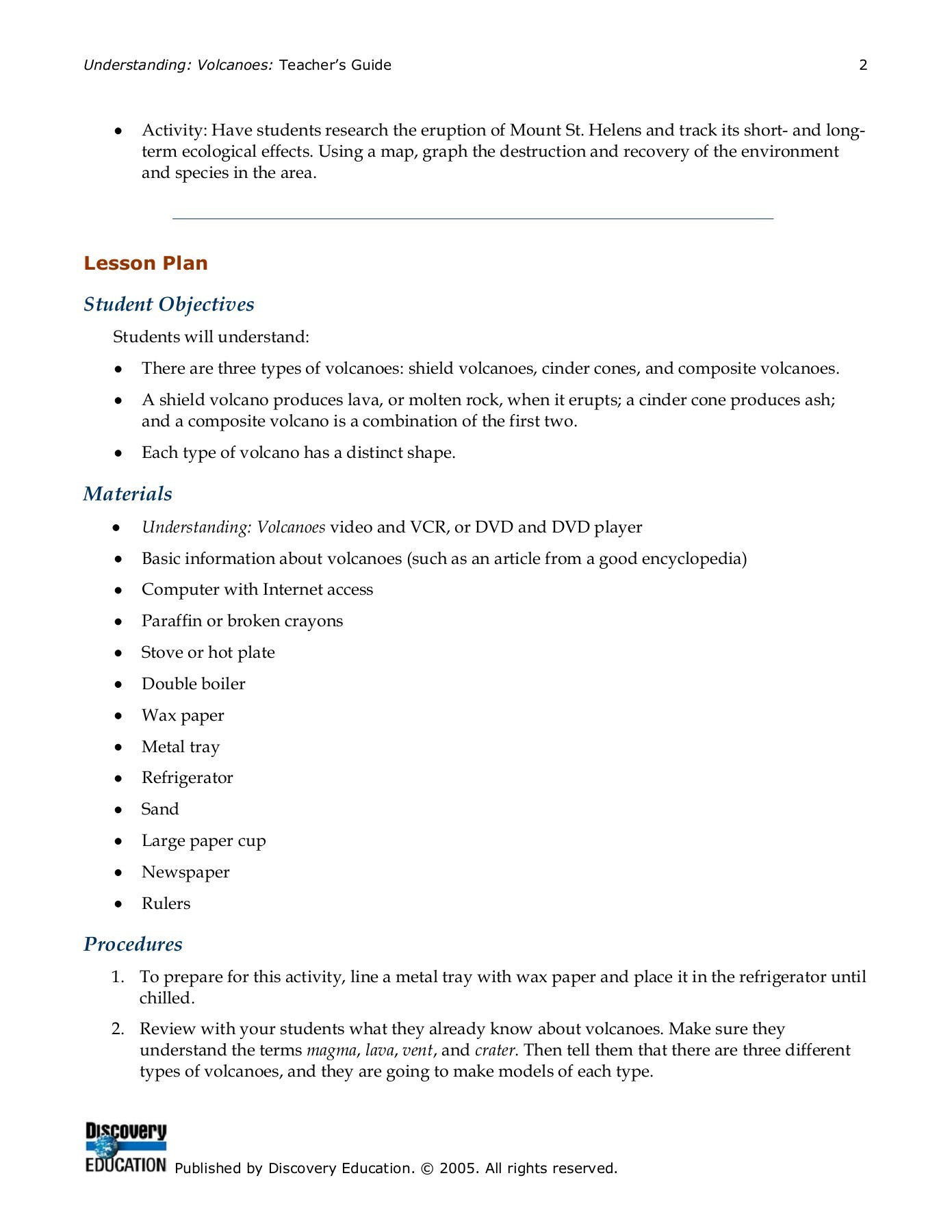 Volcano Worksheets High School Worksheet For Kindergarten