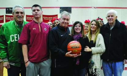 From left: John DiBiaso's uncle, Robert Sansone, his son Jonathan, his wife Maureen, his daughter Kristina, and his father-in-law William Shields.