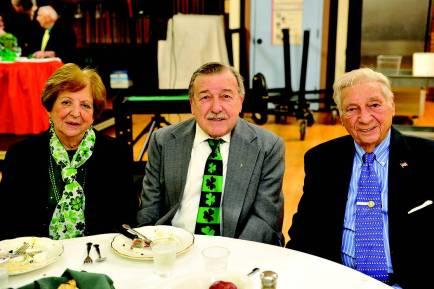 Marie and Joe Tozzi and WWII veteran Raymond Lepore.