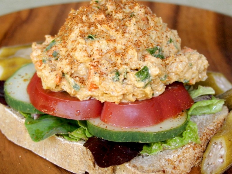 "Everetts Fusions Chickpea ""Egg"" Salad"