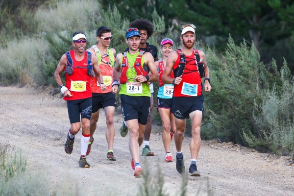 Mauritz Jansen van Rensburg, J.C. Visser, Christiaan Greyling, Endi Angelo Pegado, Landie Greyling and AJ Calitz in action during Stage 2 of the Tankwa Trail on the 18th of February 2017.