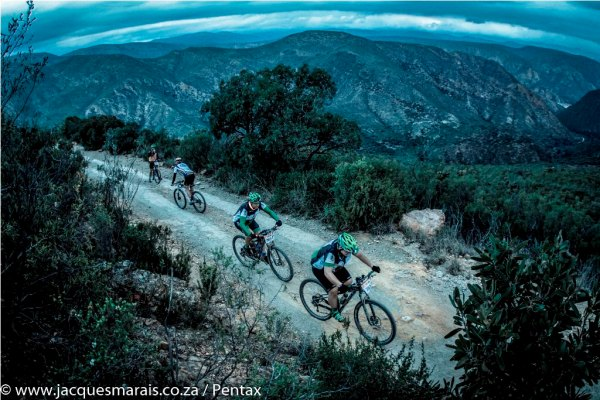 Many a rider's first goal is to reach the top of the Mother of All Climbs before sunset. Photo by Jacques Marais.