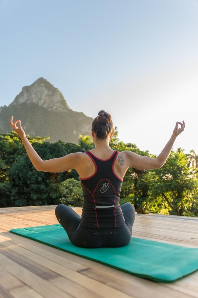 Outdoor Yoga platform, Stonefield Estates