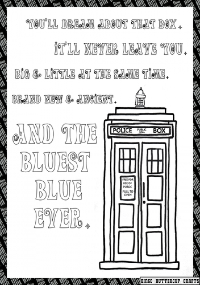 Easy Preschool Printable of Doctor Who Coloring Pages   R38YZ