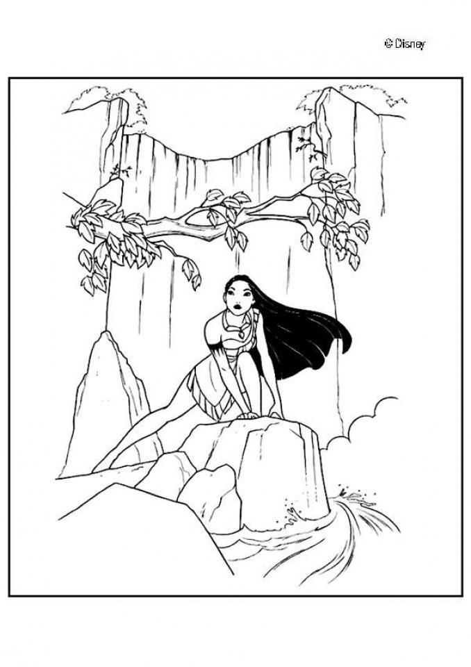 Easy Preschool Printable of Pocahontas Coloring Pages   R38YZ