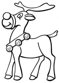 Easy Preschool Printable of Rudolph Coloring Page R38YZ