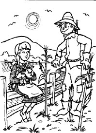 Easy Preschool Printable of Wizard Of Oz Coloring Pages R38YZ