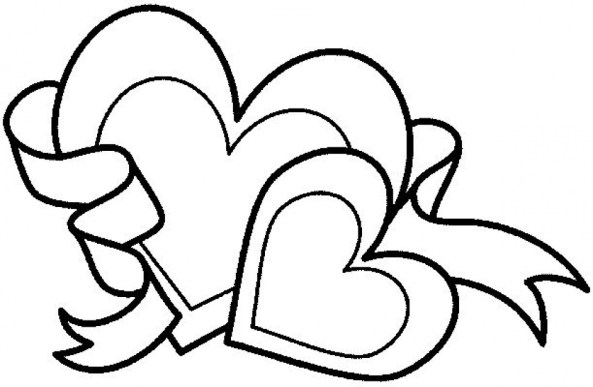 Free Hearts Coloring Pages for Toddlers 4JGO1