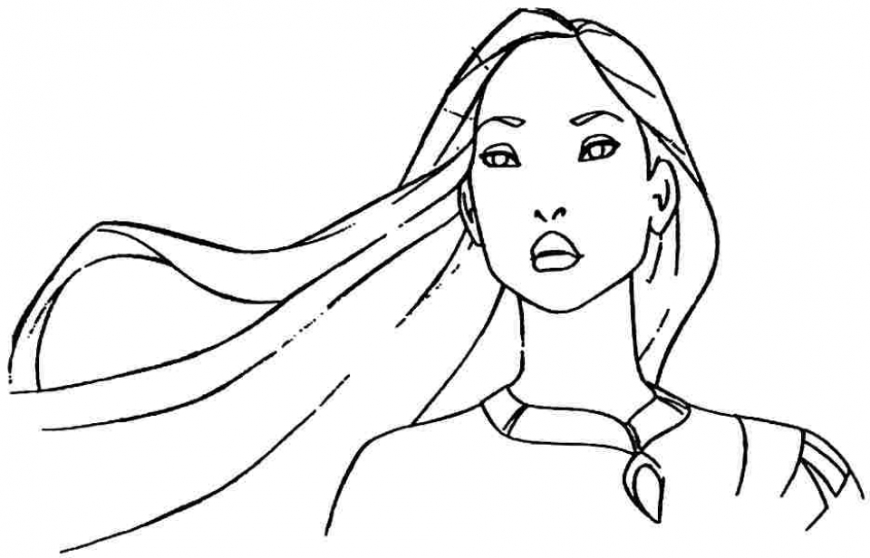 Free Printable Pocahontas Coloring Pages for Kids   HAKT6