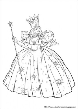 Free Wizard Of Oz Coloring Pages for Kids AD58L