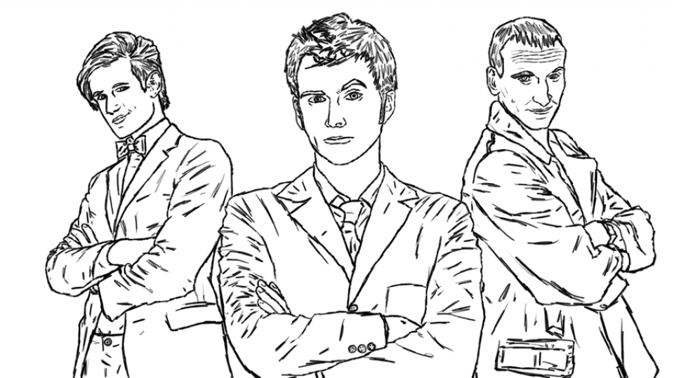 Kids' Printable Doctor Who Coloring Pages   LC75F
