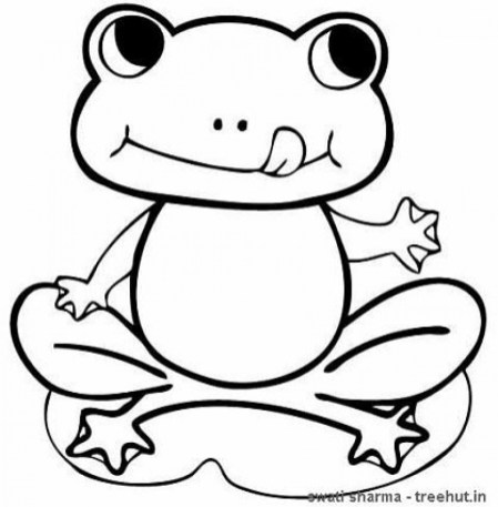 Online Frog Coloring Pages to Print B9149