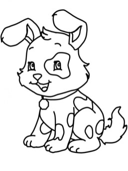 Online Printable Puppy Coloring Pages 4G45S