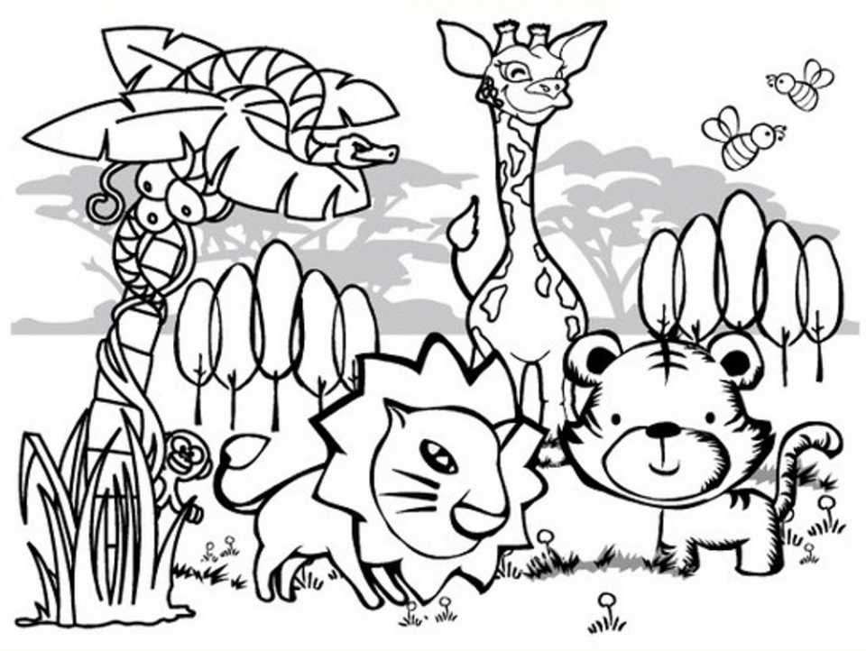 Preschool Animals Coloring Pages to Print   4ABJZ