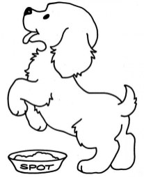 Puppy Coloring Pages for Toddlers MHTS9