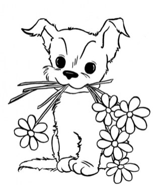 Puppy Coloring Pages Online Printable B6QSA