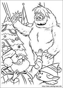 Rudolph Coloring Page for Toddlers MHTS9