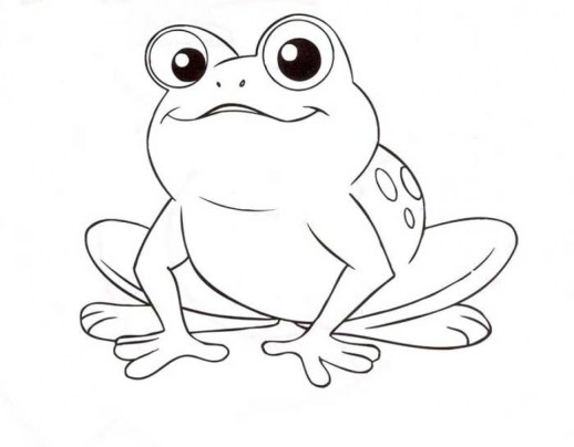 Simple Frog Coloring Pages to Print for Preschoolers 0VJOR