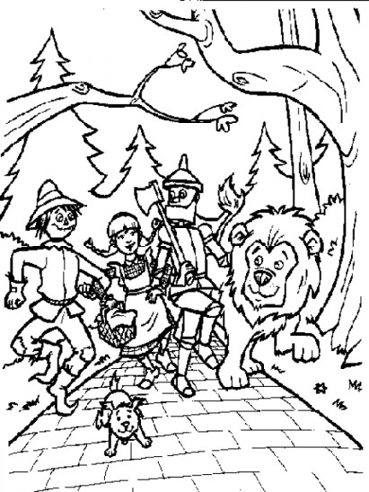 Wizard Of Oz Coloring Pages to Print for Kids Q1CIN
