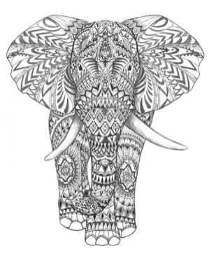 Abstract Elephant Coloring Pages 77421