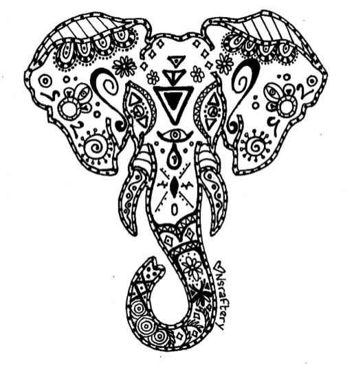 Advanced Elephant Coloring Pages 753954