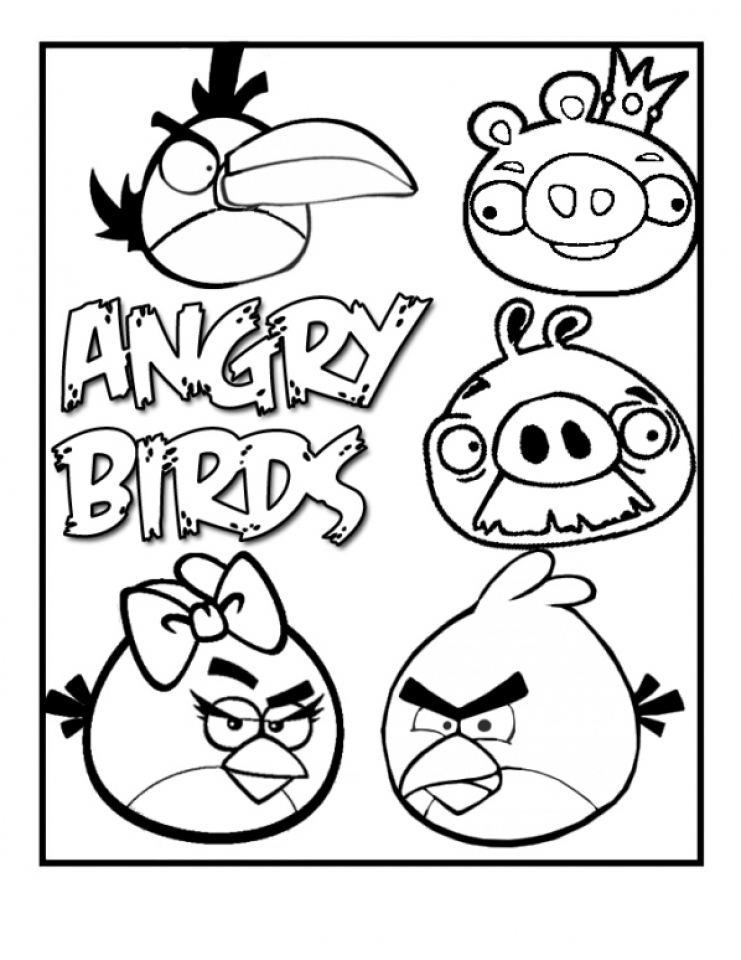 angry birds coloring pages - Free Large Images | 960x741