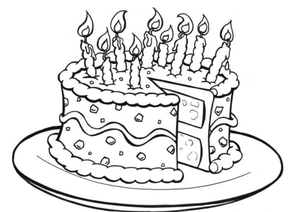 Cake Coloring Pages to Print Online   lj8rr