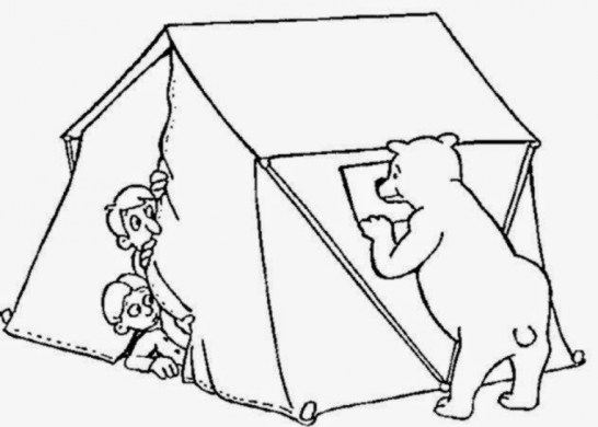 Camping Coloring Pages Free Printable 66396