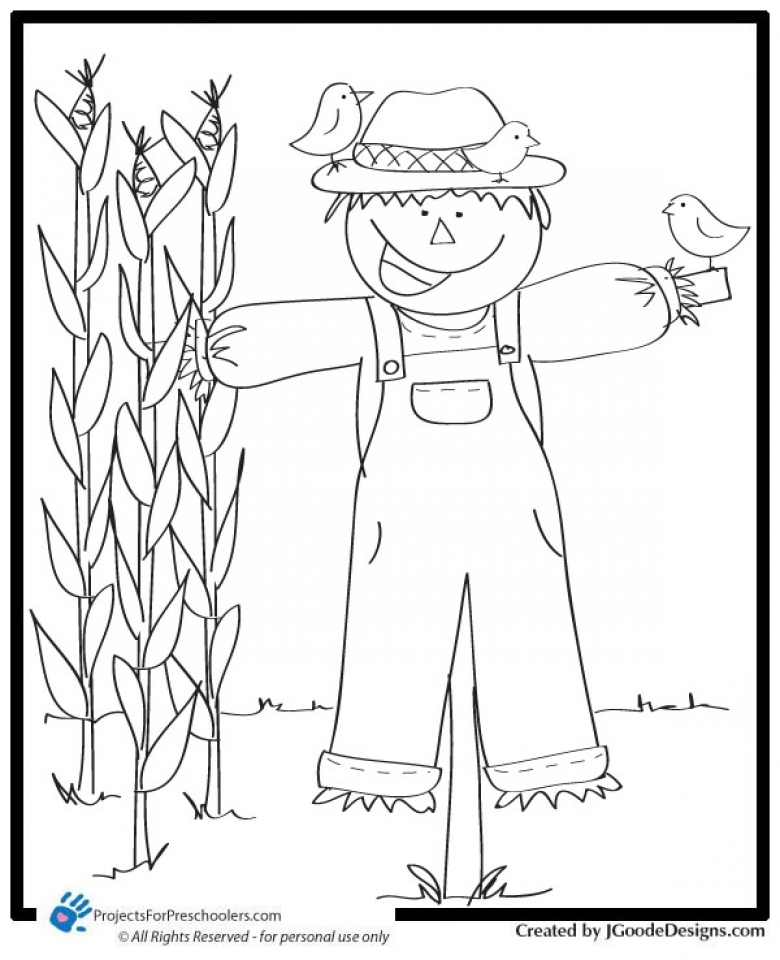 get this children's printable scarecrow coloring pages v9hxd