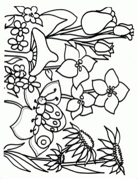 Children's Printable Spring Coloring Pages 5te3k