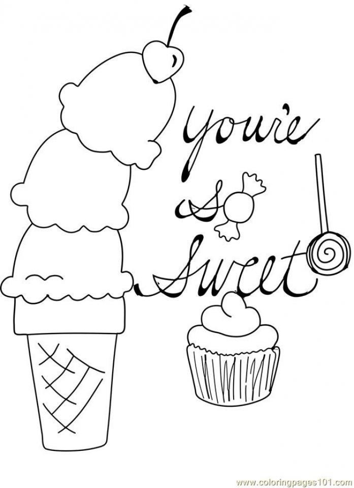 Easy Preschool Printable of Candy Coloring Pages   qov5f
