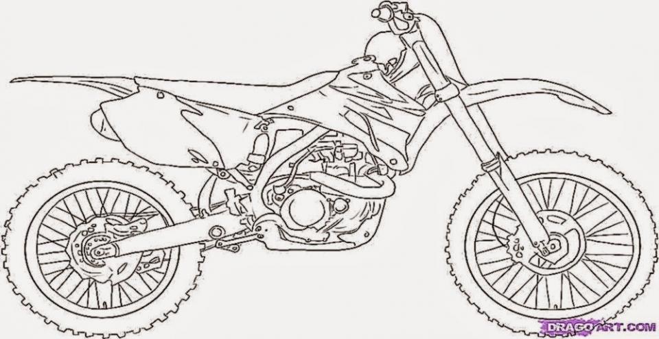 Easy Preschool Printable of Dirt Bike Coloring Pages   qov5f