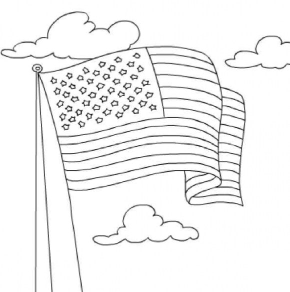 Easy Preschool Printable of Flag Coloring Pages A5BzR