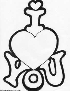 Easy Printable I Love You Coloring Pages for Children la4xx