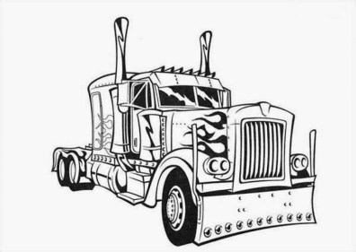 Easy Printable Optimus Prime Coloring Page for Children la4xx