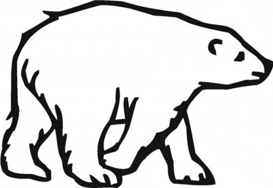 Easy Printable Polar Bear Coloring Pages for Children la4xx
