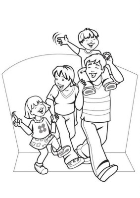 Family Coloring Pages Online Printable nhywg
