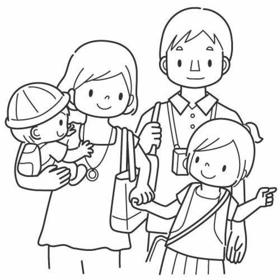 Family Coloring Pages Printable for Kids   r1n7l