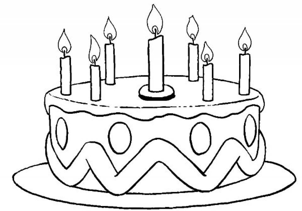 Birthday Cake Coloring